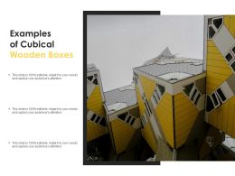 Examples Of Cubical Wooden Boxes