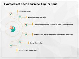 Examples Of Deep Learning Applications Diagnostics Ppt Powerpoint Presentation Visual Aids Show