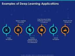 Examples Of Deep Learning Applications Ppt Powerpoint Presentation Introduction