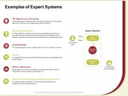 Examples Of Expert Systems Accurate Solution Ppt Powerpoint Presentation Gallery Samples