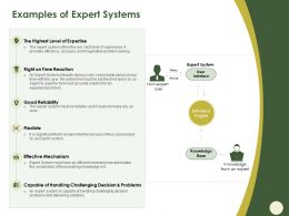Examples Of Expert Systems Foremost Ppt Powerpoint Presentation Professional Objects