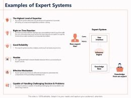 Examples Of Expert Systems Reliability Level Ppt Powerpoint Presentation Infographics