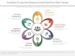 Examples Of Long Term Business Goals Powerpoint Slide Themes