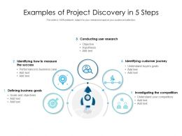 Examples Of Project Discovery In 5 Steps