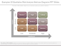 Examples Of Qualitative Risk Analysis Matrices Diagrams Ppt Slides