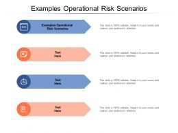 Examples Operational Risk Scenarios Ppt Powerpoint Presentation Pictures Structure Cpb