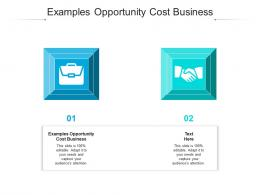 Examples Opportunity Cost Business Ppt Powerpoint File Cpb