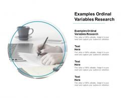 Examples Ordinal Variables Research Ppt Powerpoint Presentation File Show Cpb