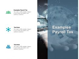Examples Payroll Tax Ppt Powerpoint Presentation Show Graphic Tips Cpb