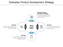 Examples Product Development Strategy Ppt Powerpoint Presentation Outline Grid Cpb