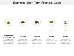 Examples Short Term Financial Goals Ppt Powerpoint Presentation Infographics Layout Cpb