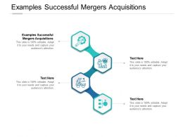 Examples Successful Mergers Acquisitions Ppt Powerpoint Icons Cpb