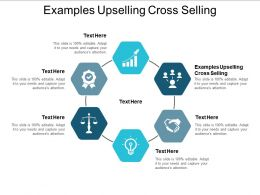 Examples Upselling Cross Selling Ppt Powerpoint Presentation Infographics Portrait Cpb