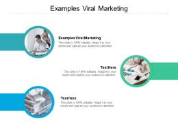 Examples Viral Marketing Ppt Powerpoint Presentation Layouts Designs Cpb