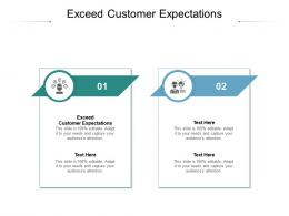 Exceed Customer Expectations Ppt Powerpoint Presentation Ideas Show Cpb