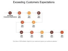 Exceeding Customers Expectations Ppt Powerpoint Presentation Model Background Image Cpb