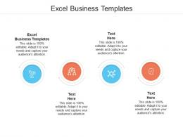 Excel Business Templates Ppt Powerpoint Presentation Ideas Graphics Example Cpb