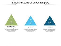 Excel Marketing Calendar Template Ppt Powerpoint Presentation Pictures Influencers Cpb