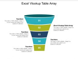 Excel Vlookup Table Array Ppt Powerpoint Presentation Gallery Design Ideas Cpb