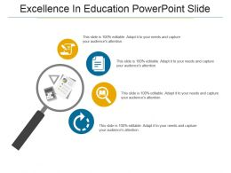 Excellence In Education Powerpoint Slide