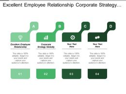 Excellent Employee Relationship Corporate Strategy Globally Scale Advantage