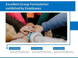 Excellent Group Formulation Exhibited By Employees