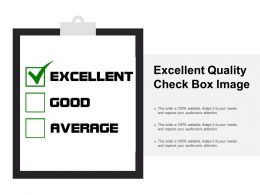 Excellent Quality Check Box Image