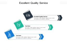 Excellent Quality Service Ppt Powerpoint Presentation Gallery Themes Cpb