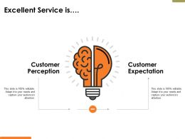 Excellent Service Is Ppt Powerpoint Presentation Diagram Lists