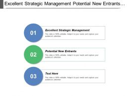 Excellent Strategic Management Potential New Entrants Competitive Forces