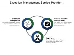 Exception Management Service Provider Management Storage Management Inward Processing