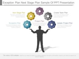 Exception Plan Next Stage Plan Sample Of Ppt Presentation