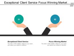 Exceptional Client Service Focus Winning Market Talent Management