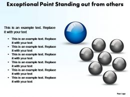 exceptional point standing out from others powerpoint templates