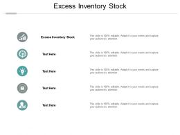 Excess Inventory Stock Ppt Powerpoint Presentation Visual Aids Professional Cpb