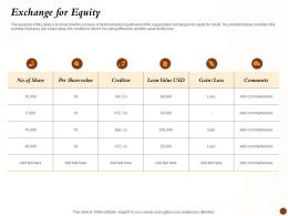 Exchange For Equity Loan Value Ppt Powerpoint Presentation Inspiration