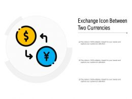 Exchange Icon Between Two Currencies