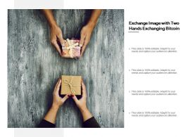 Exchange Image With Two Hands Exchanging Bitcoin