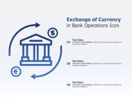 Exchange Of Currency In Bank Operations Icon