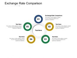 Exchange Rate Comparison Ppt Powerpoint Presentation Infographics Examples Cpb