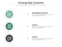 Exchange Rate Conversion Ppt Powerpoint Presentation Outline Show Cpb