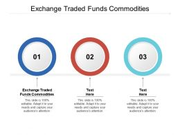 Exchange Traded Funds Commodities Ppt Powerpoint Presentation Graphics Cpb