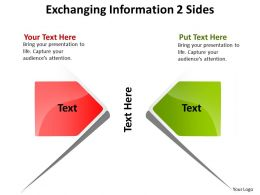 Exchanging Information 2 Sides Powerpoint Slides Presentation Diagrams Templates