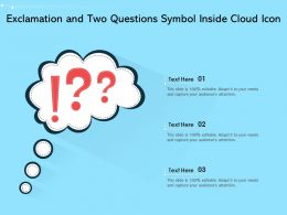 Exclamation And Two Questions Symbol Inside Cloud Icon