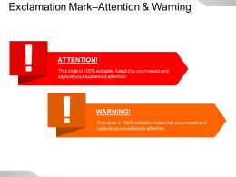 Exclamation Mark Attention And Warning