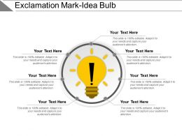 Exclamation Mark Idea Bulb