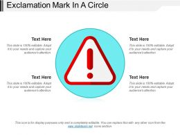 Exclamation Mark In A Circle