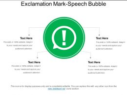 Exclamation Mark Speech Bubble