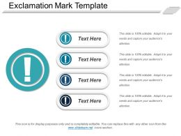 Exclamation Mark Template