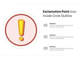 Exclamation Point Icon Inside Circle Outline